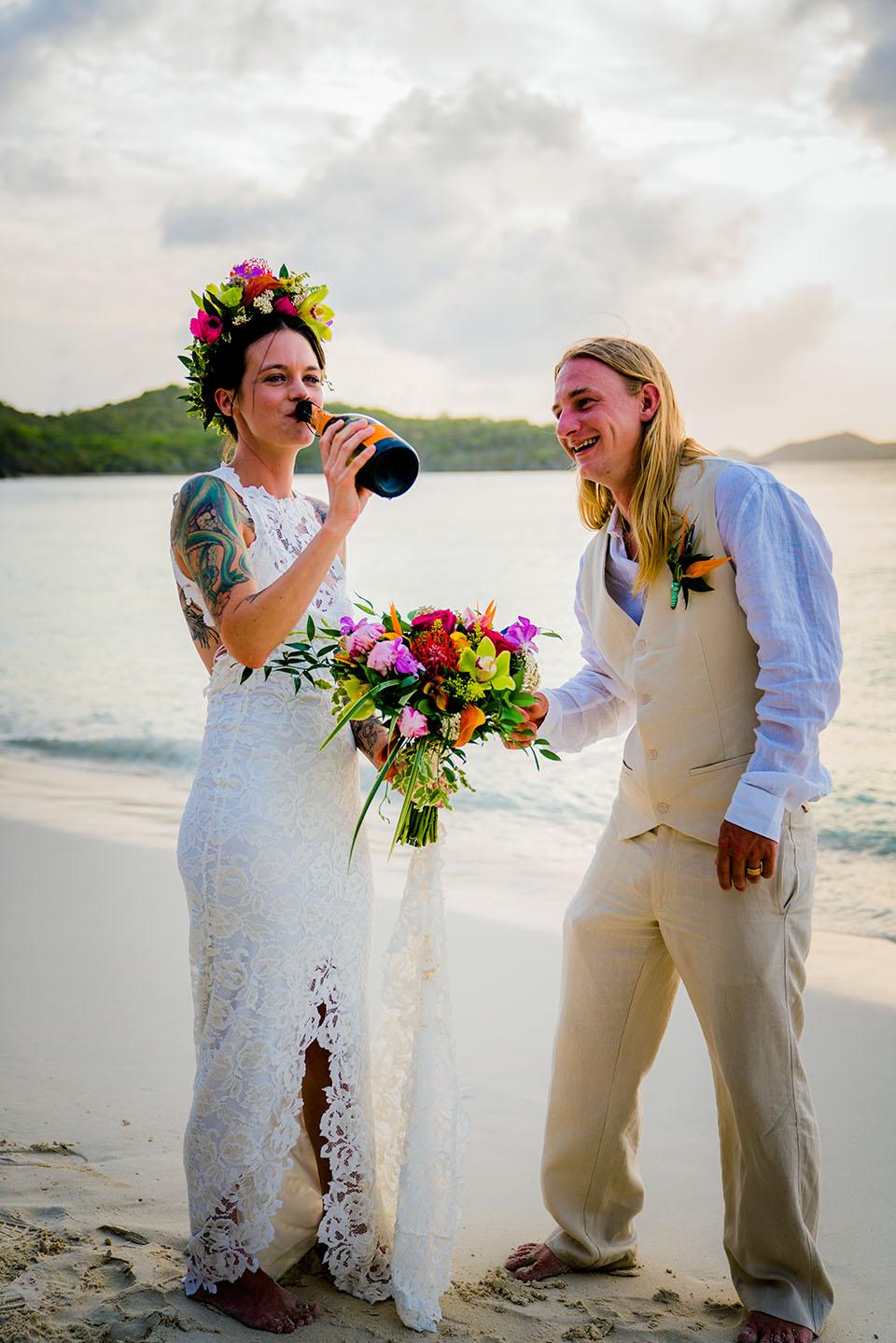 tropical bride floral crown